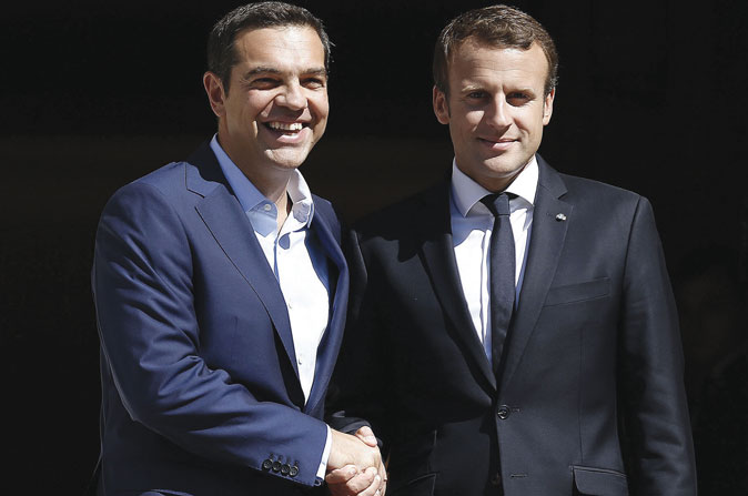Tsipras and Macron lead a new Europe