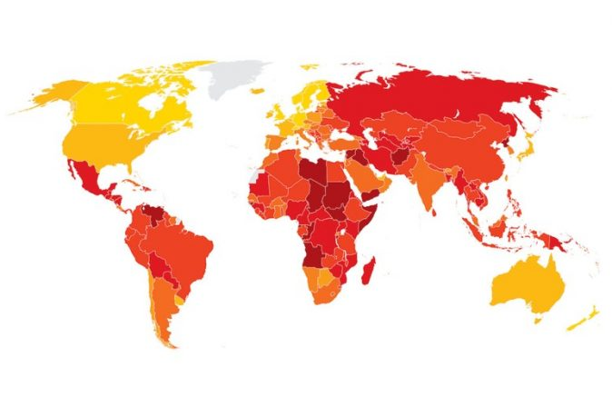 Transparency International: Denmark and New Zealand the least corrupt countries in the world
